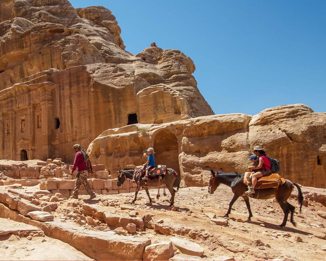 Family travel to Jordan