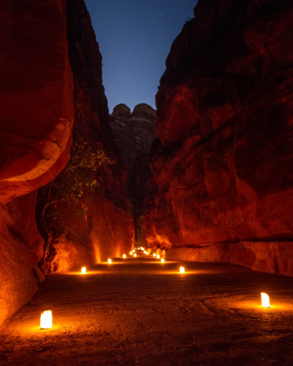 Petra by Night - The Siq
