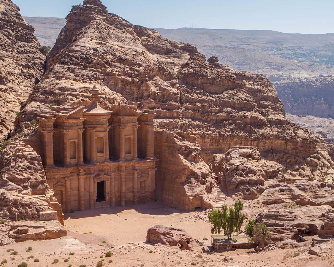 The Petra Monastery on a Jordan vacation