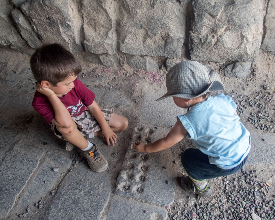 Why you should travel with childre - playing games in Jordan