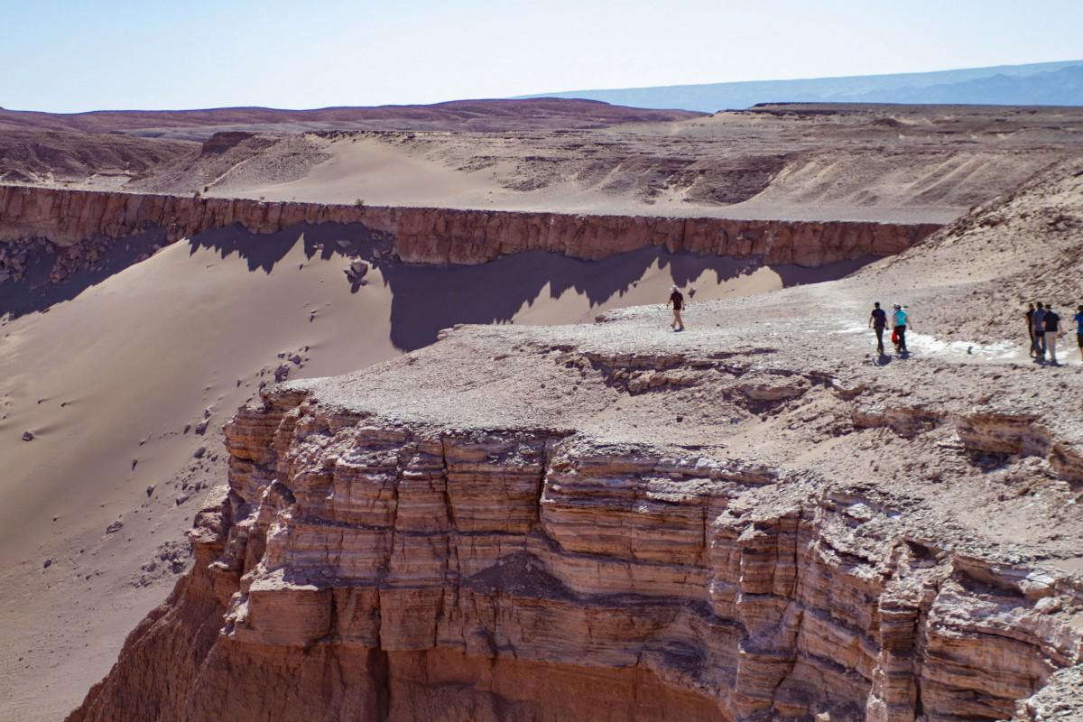 Walking along the canyon rim