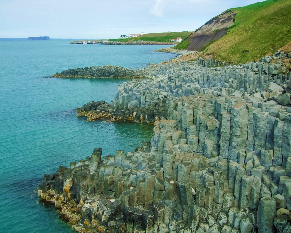 The beautiful basalt cliffs near Hofsos - An Epic 14 Day Iceland Itinerary
