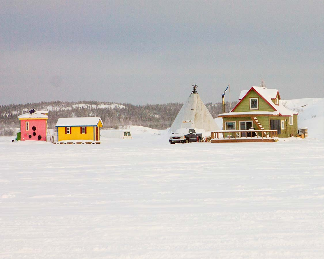 what to do in Yellowknife Fishing houses
