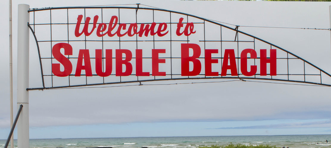 Sauble Beach sign.