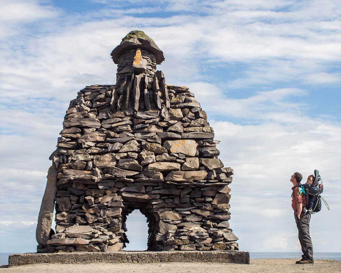 Best Hikes in Iceland for families - Bardur of Snaefellsnes