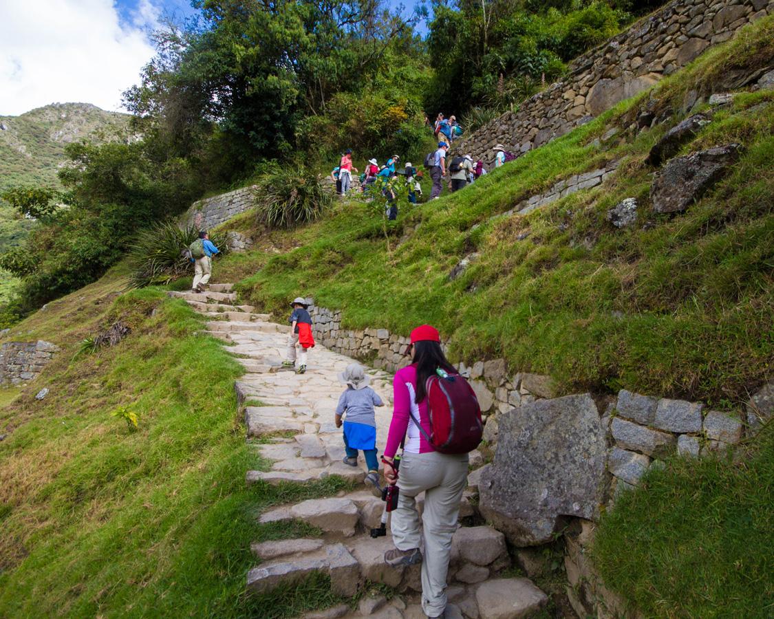 Machu Picchu for kids - Hiking can be tough when visiting Machu Picchu with kids.
