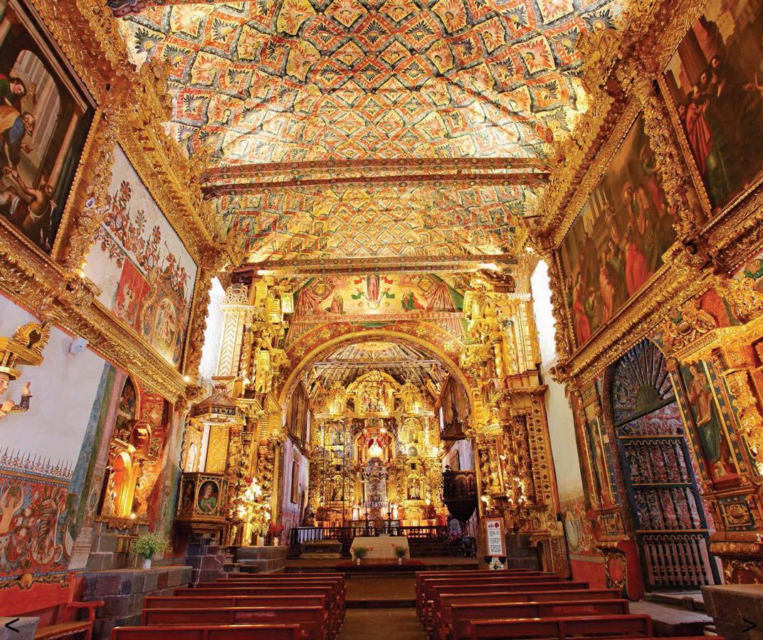 Inside of the Sistine Chapel of the Americas in Andahualillas Peru - Photo courtesy of Ruta del Barroco