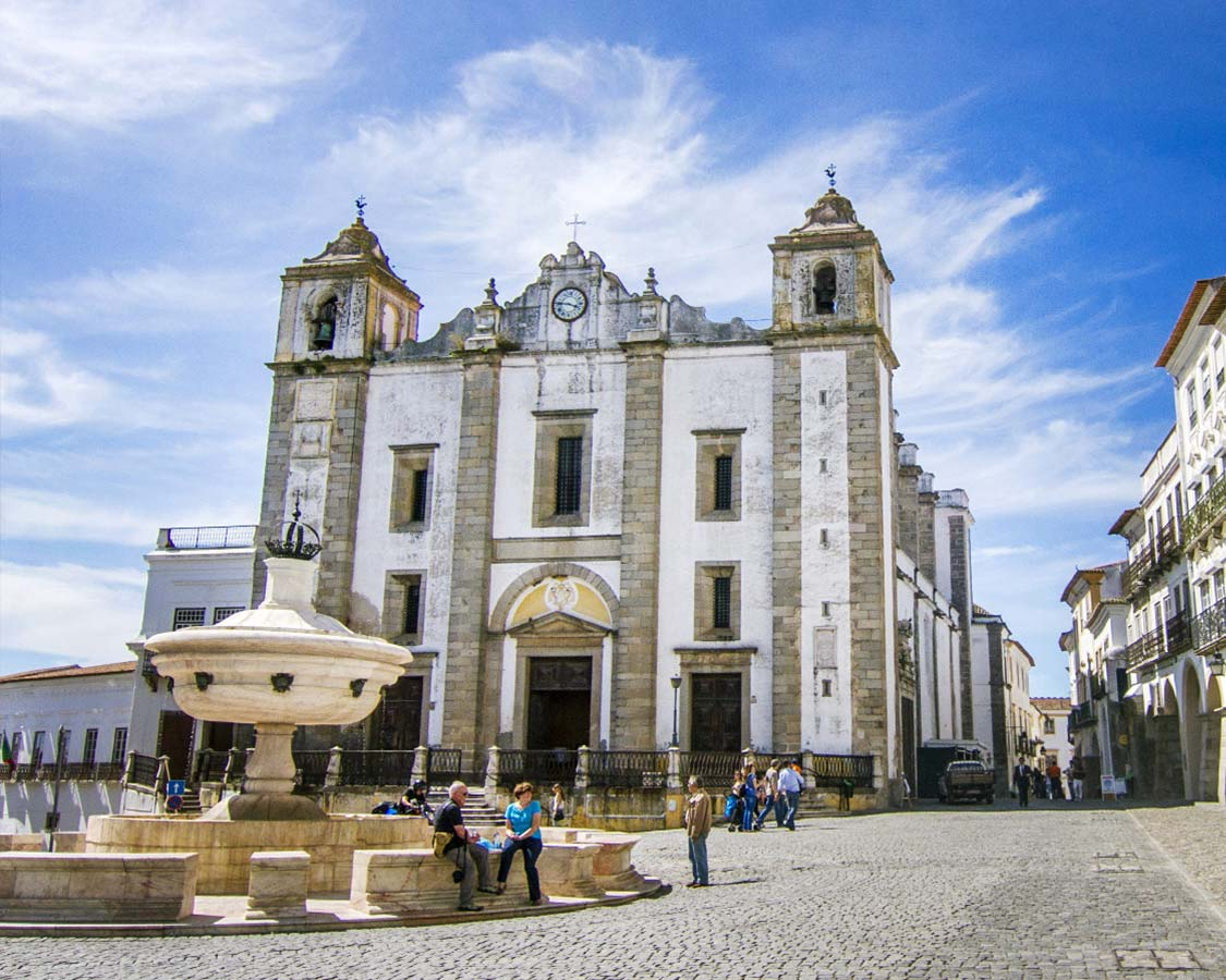 Evora in Portugal is a UNESCO world heritage site. This walled city is a couple of hours driving distance from Lisbon making a day trip to Evora possible.