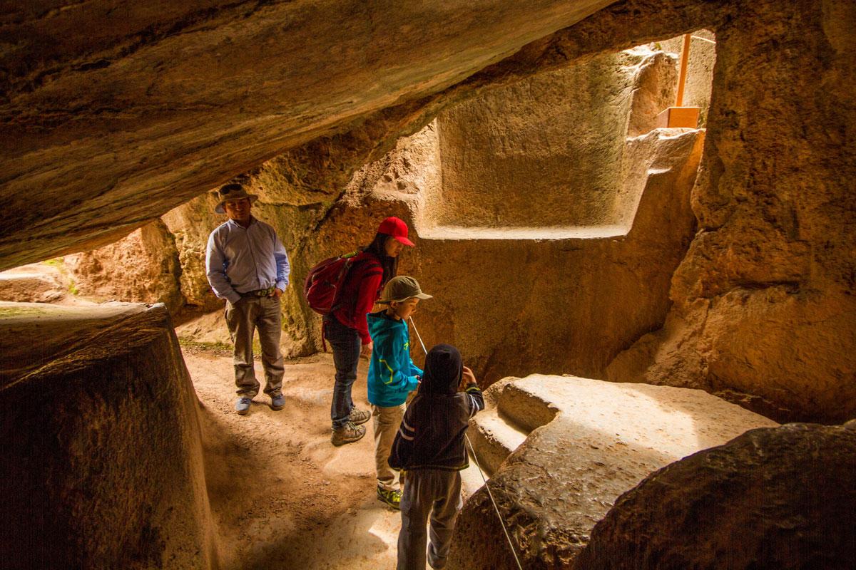 Sacrificial Alters at Sacsaywaman near Cusco Peru with kids on a 14 day Peru itinerary