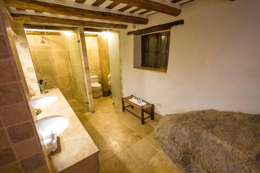 Bathroom of InkaTerra Machu Picchu Pueblo Hotel Peru