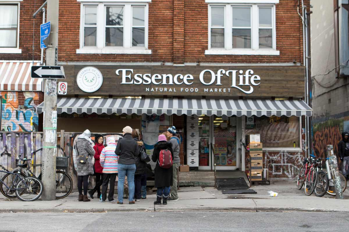 Essence of Life Organic Grocery store in Kensington Market on a Tasty Tours Toronto food tour