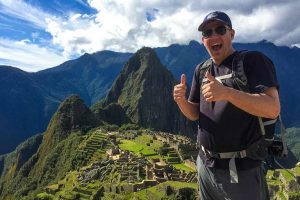 About Us Family travel expert Kevin Wagar in Machu Picchu Peru