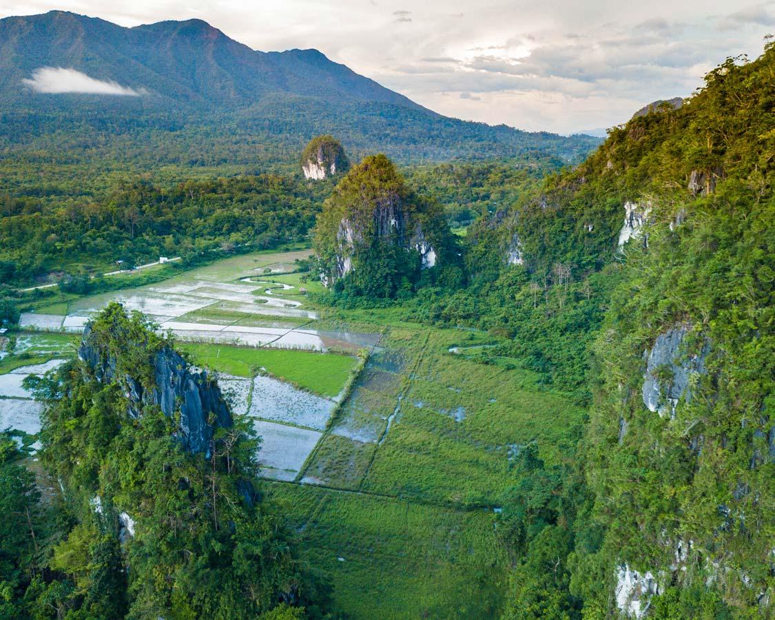 Mountains surrounding Elephant Cave in Puerto Princesa Philippines