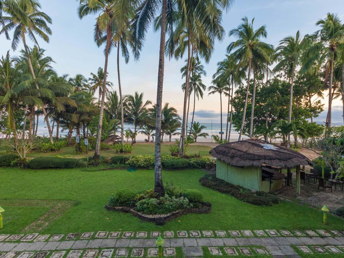 View from Daluyon Mountain Resort in Puerto Princesa to Sabang Beach near the Puerto Princesa Underground River