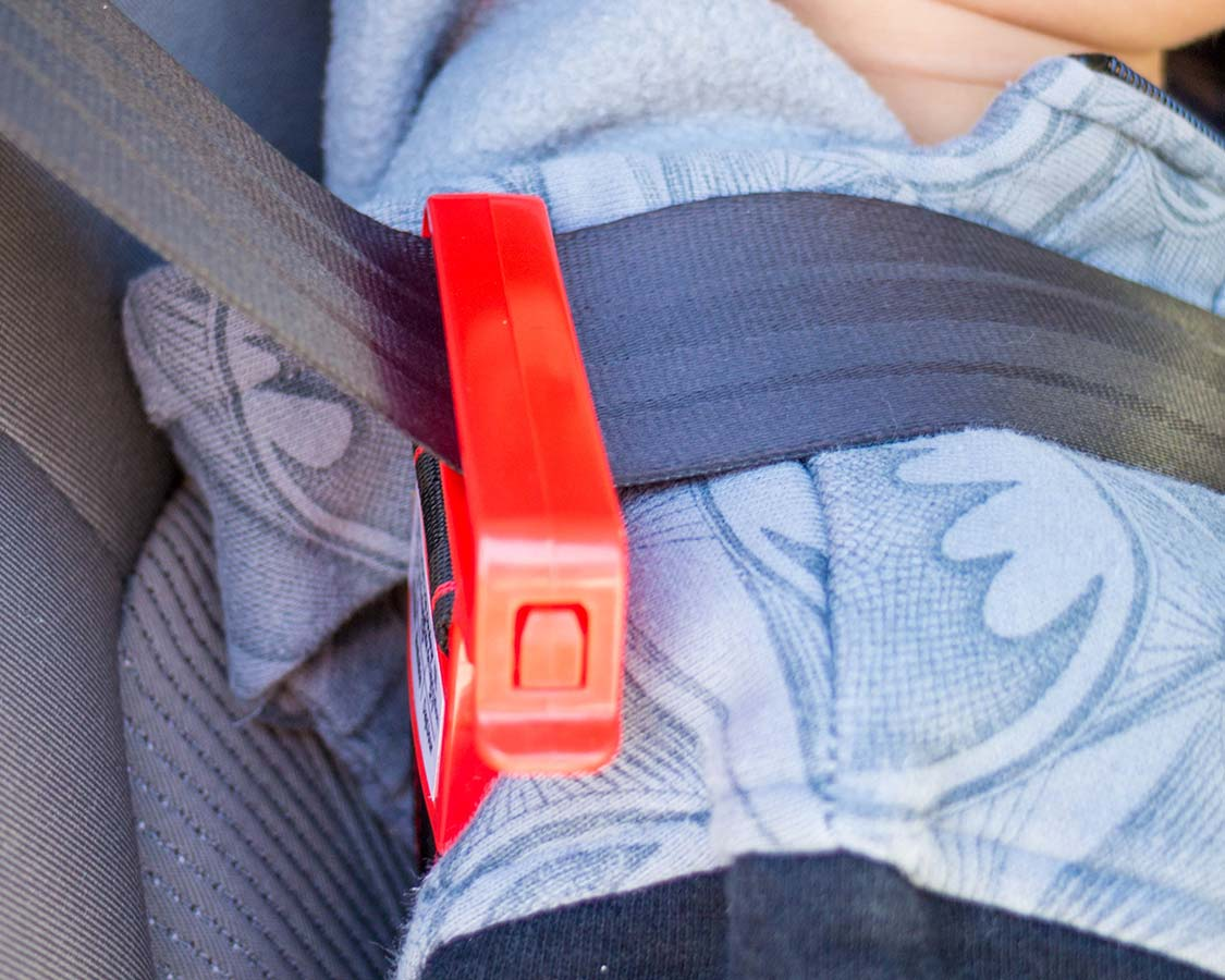Mifold booster seat shoulder harness