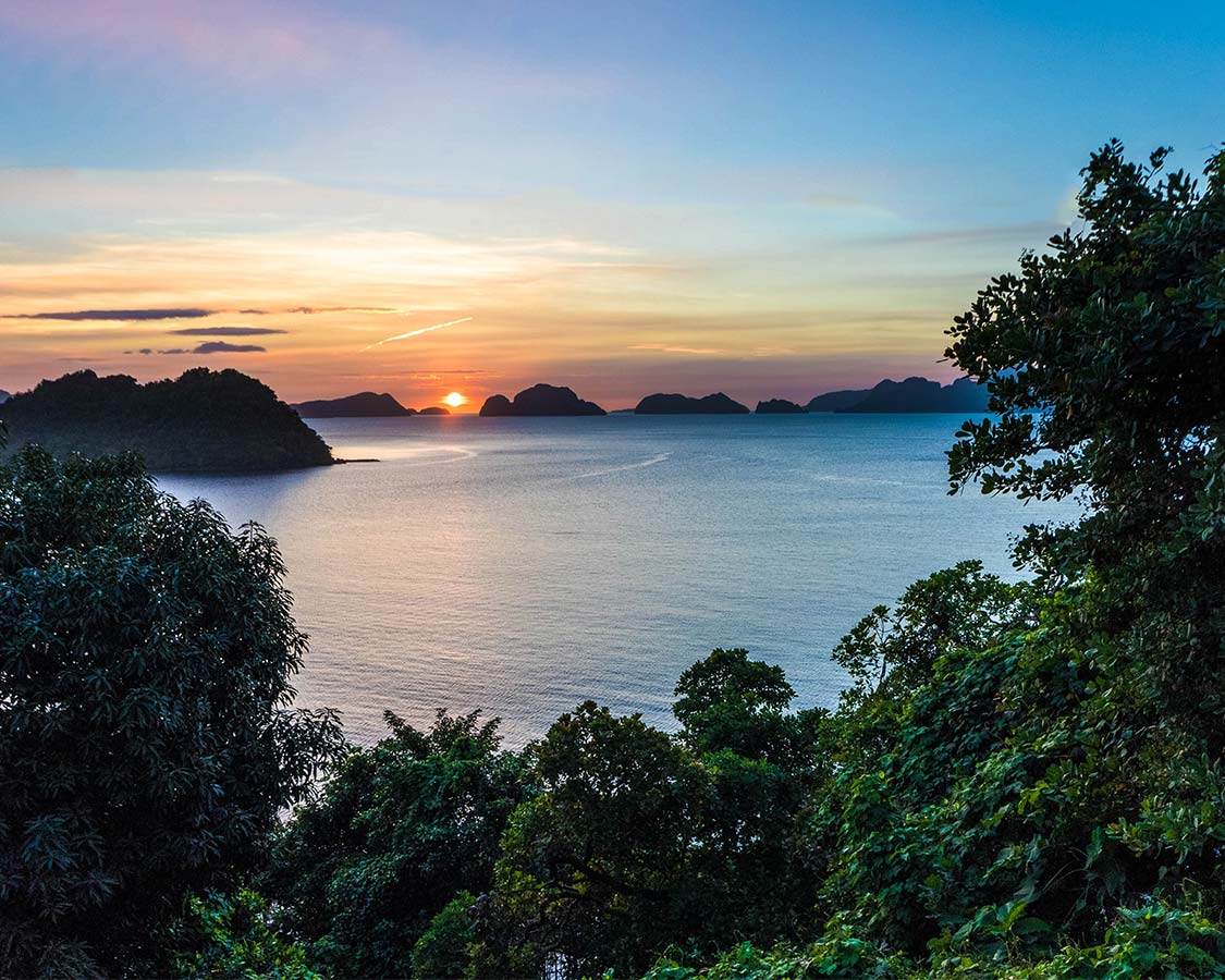 Sunset over El Nido Philippines