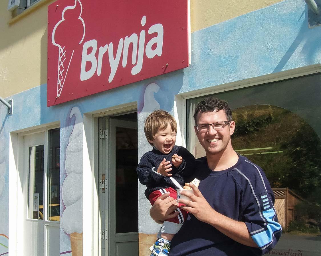 Iceland For Kids Ice Cream in Akueyri