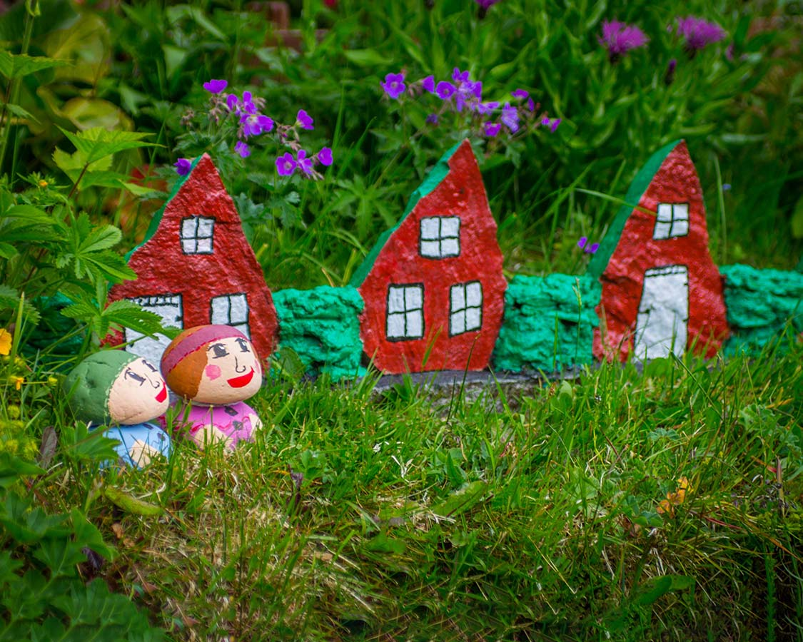Iceland with kids Fairy houses at Petras Stone Collection