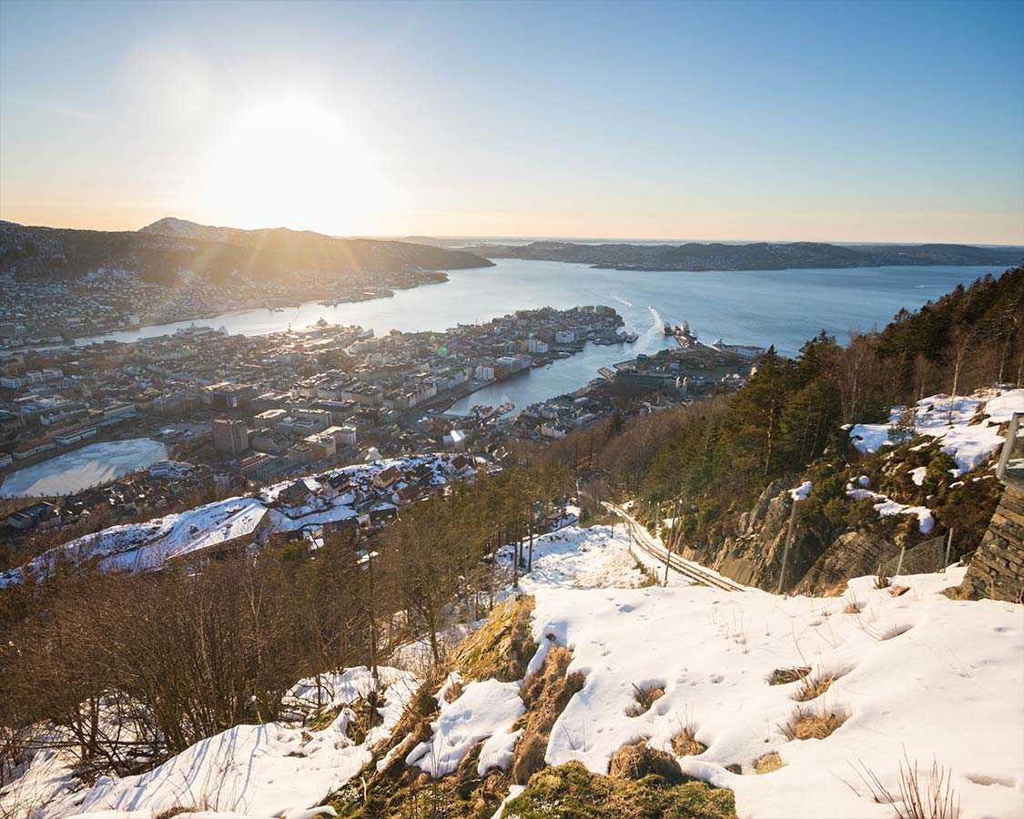 What To Do in Bergen Norway from Mount Floyen