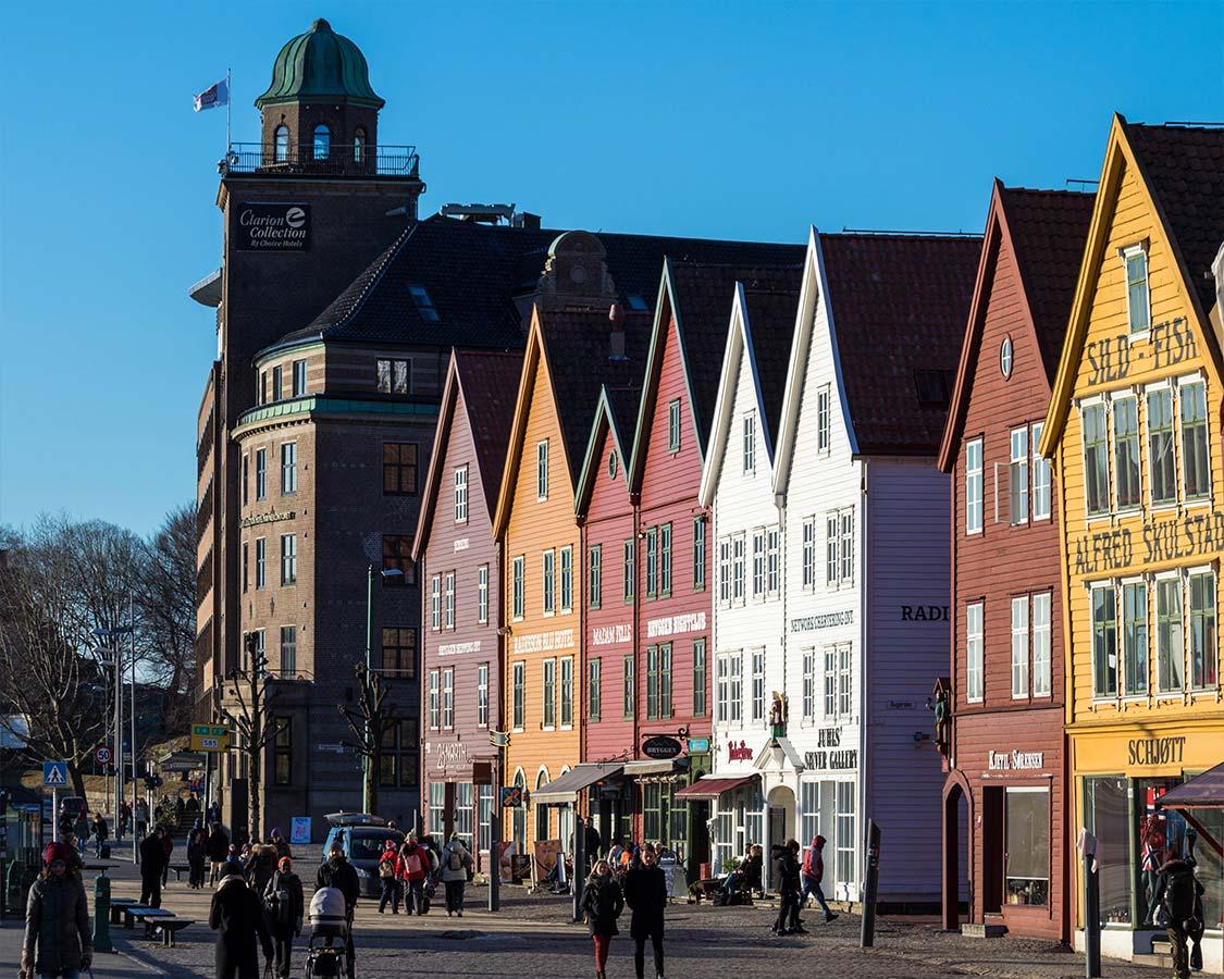Hurtigruten Excursion in Norway Bergen Wharfs
