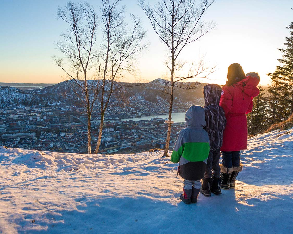 Things to do in Bergen - View of Bergen from Mount Floyen in Norway
