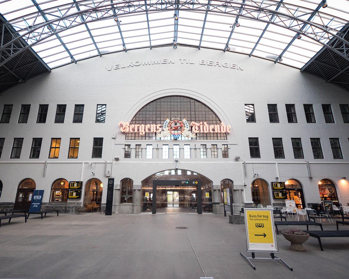 Norway In a Nutshell Bergen Train Station