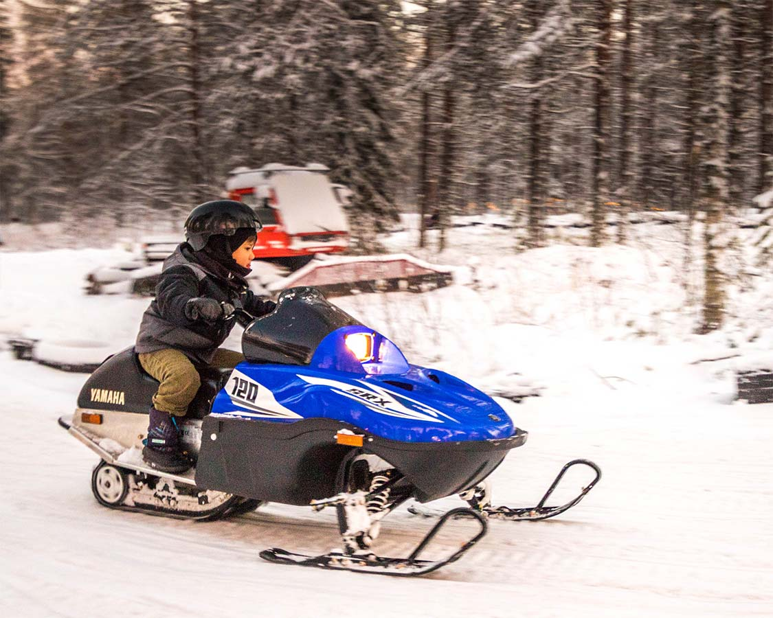 Rovaniemi things to do snowmobiling for kids