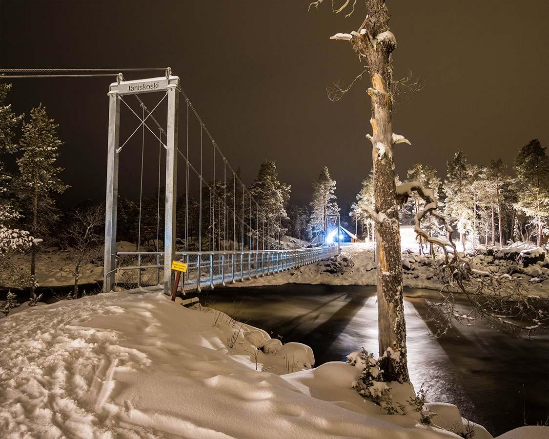 Janiskoski Bridge hiking trail Inari Finland