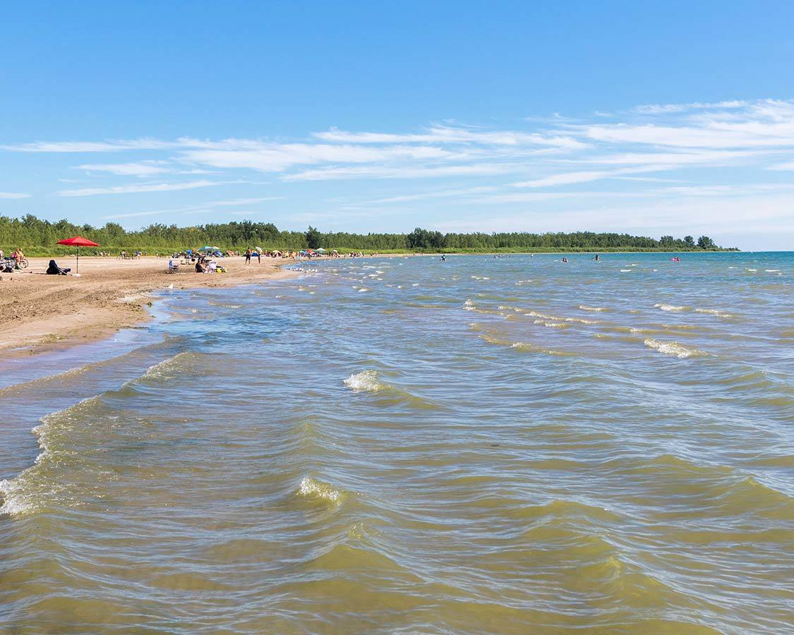 Presqu 'ile Beach Ontario Camping