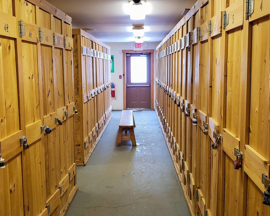 Gear Lockers at Titus Mountain Ski Resort