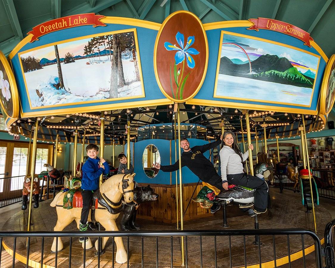 Things to do in Saranac Lake NY Adirondack Carousel