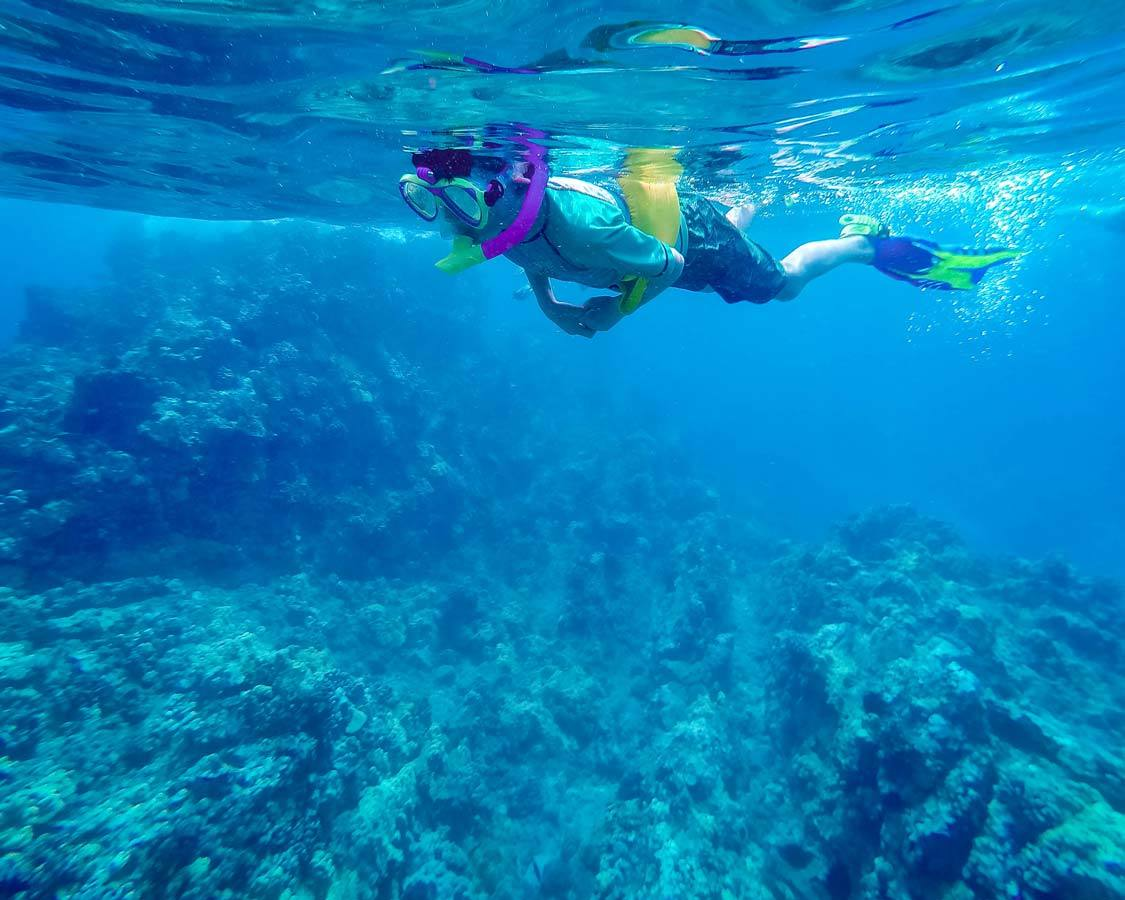 Snorkeling with kids in Molokini Crater