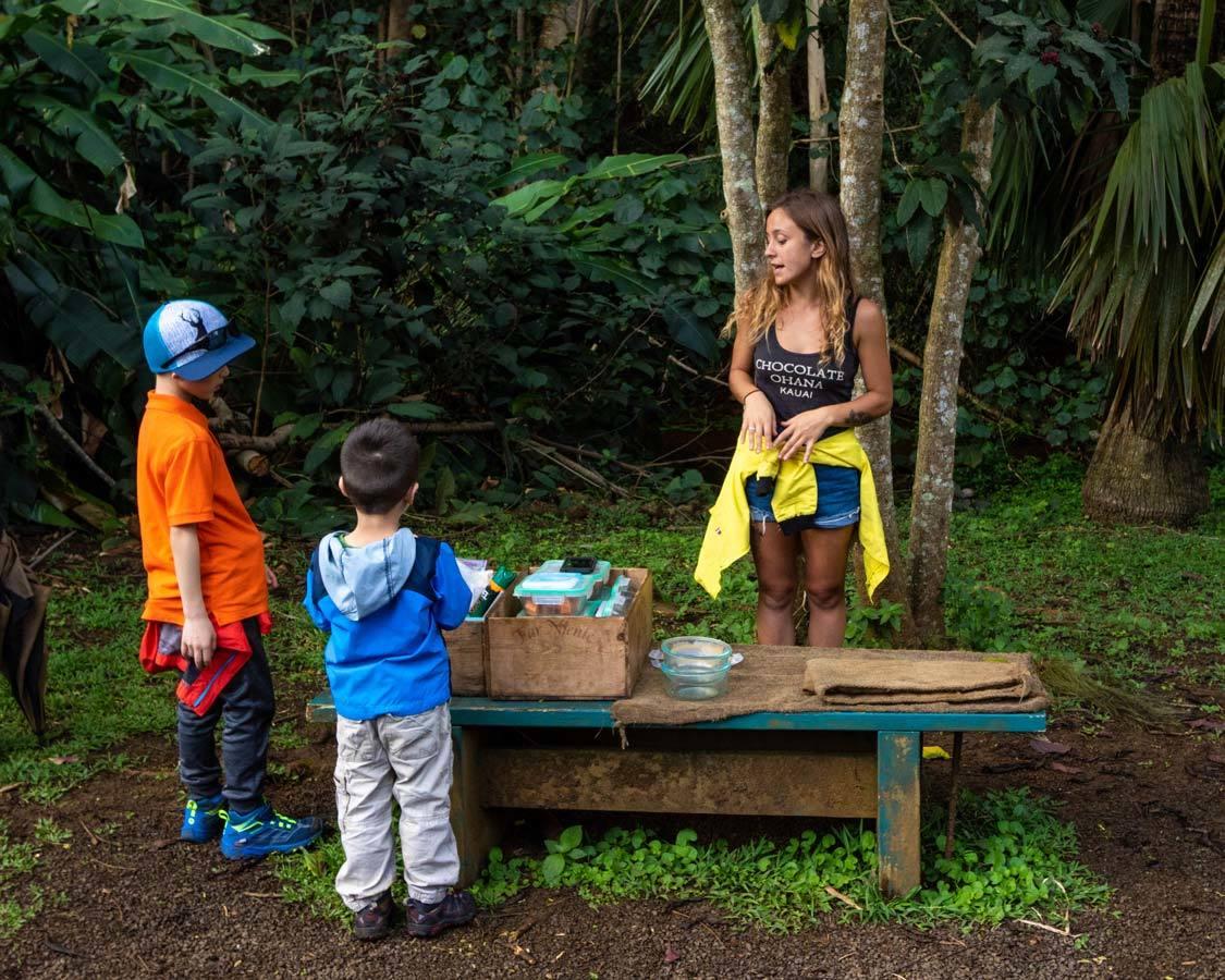 Chocolate tour in Kauai Lydgate Farm