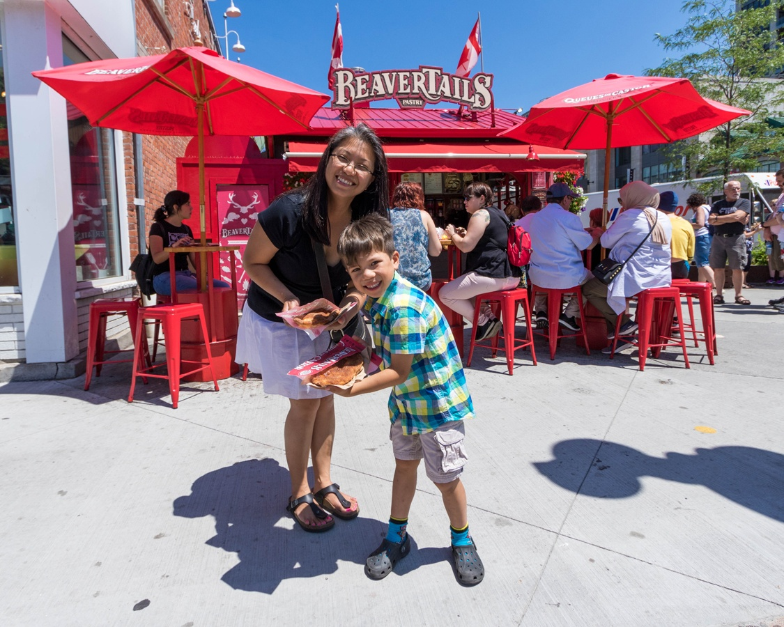 Ottawa with family Beaver Tails